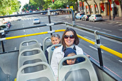 Young mother with children on an excursion Royalty Free Stock Photography