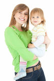 Young mother cuddling baby son Royalty Free Stock Images