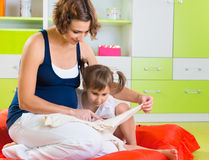 Young mother with cute daughter Royalty Free Stock Images
