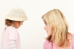 Young mother and daughter Stock Image