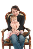 Young mother and daughter Stock Photography