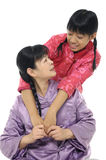 Young mother and daughter Stock Images