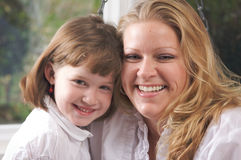 Young Mother and Daughter Royalty Free Stock Images
