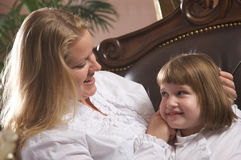 Young Mother and Daughter Royalty Free Stock Photos