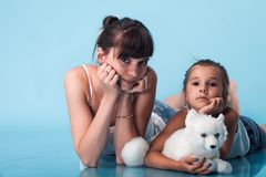 Young mother with daughter Stock Photo