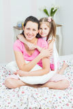 Young Mother and daughter Stock Photo