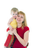 Young mother with the daughter royalty free stock image