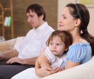 Young mother with a daughter at home Royalty Free Stock Photo