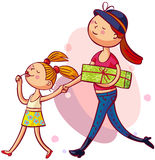 Young mother with daughter Stock Image