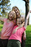 Young Mother and daughters having fun Stock Photography