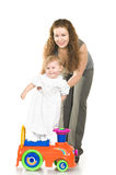 Young mother and doughther Stock Photo