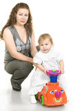Young mother and doughther Stock Image