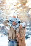 Young Mother and Father with a child Royalty Free Stock Photo