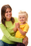 Young mother with  girl Stock Photos
