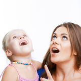 Young mother and girl. Royalty Free Stock Photography