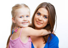 Young mother and girl. Royalty Free Stock Photos