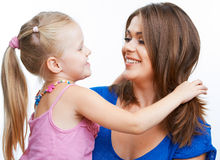 Young mother and girl. Stock Images