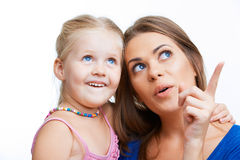 Young mother and girl. Stock Photo