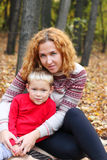 Young mother with happy son Royalty Free Stock Photos
