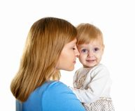 Young mother having fun with her little son Royalty Free Stock Images