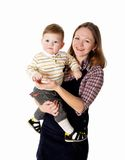 Young mother having fun with her little son Stock Photo