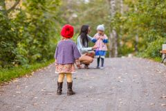 Young mother with her adorable happy daughters Stock Photography