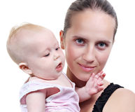 Young mother with her baby Stock Image
