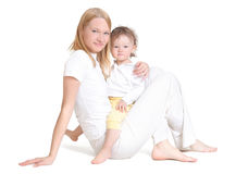 Young mother and her baby. Sisters Stock Photography