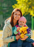 Young mother with her baby Royalty Free Stock Photo
