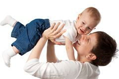 Young mother with her child Stock Photos