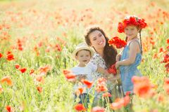 Young mother with her children Royalty Free Stock Photography