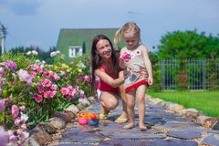 Young mother with her cute daughter have fun in Royalty Free Stock Photo