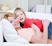 Young mother and her daughter Royalty Free Stock Photography