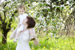 Young mother and her daughter Stock Photography
