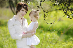 Young mother and her daughter Stock Photos