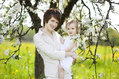 Young mother and her daughter Stock Photo
