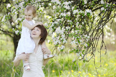 Young mother and her daughter Royalty Free Stock Images
