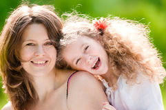 Young mother with her daughter Royalty Free Stock Photos