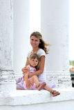 A young mother with her daughter Royalty Free Stock Photo
