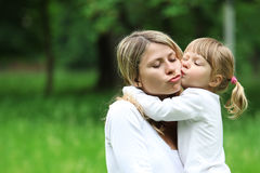 A young mother with her daughter Royalty Free Stock Photography