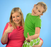 Young mother and her daughter. Stock Photos