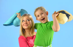 Young mother and her daughter. Royalty Free Stock Images