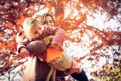 Happy young mother. royalty free stock images