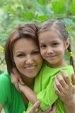 Young mother and her daughter Stock Image