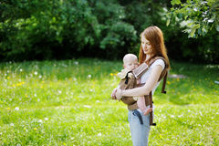 Young mother and her little baby Stock Photos