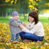 Young mother with her little baby boy Royalty Free Stock Photography