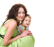 Young mother with her little baby royalty free stock image