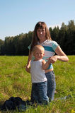 Young mother and her little child Stock Photography