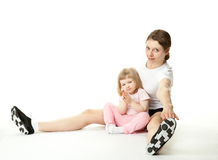 Young mother and her little daughter Royalty Free Stock Image