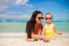 Young mother and her little daughter enjoying Stock Images